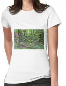 Abstract art from Nature - currents Womens Fitted T-Shirt