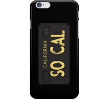 So Cal Old License iPhone Case/Skin