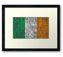 distressed irish flag Framed Print