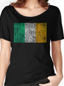 distressed irish flag Women's Relaxed Fit T-Shirt