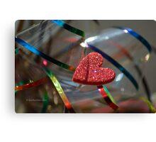 Ribbon Around My Heart Canvas Print