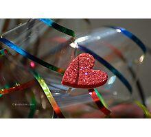 Ribbon Around My Heart Photographic Print