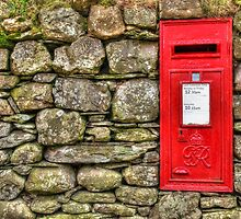 Post Box in Dry Stone Wall by AndyHuntley