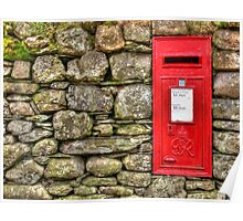 Post Box in Dry Stone Wall Poster