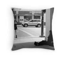 On the streets of Old Town Pasadena Throw Pillow