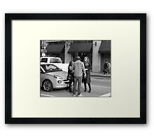 Broadway in downtown Los Angeles. Framed Print