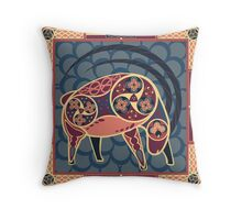 Celtic+Cave Painting: Ibex Throw Pillow