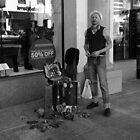 Street vender, Old Town, Pasadena. by philw