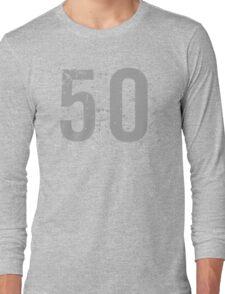 Cool Grunge 50th Birthday T-Shirt Long Sleeve T-Shirt