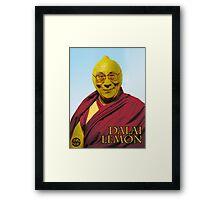 Dalai Lemon Framed Print