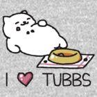 Neko Atsume - I Heart Tubbs by KatyM