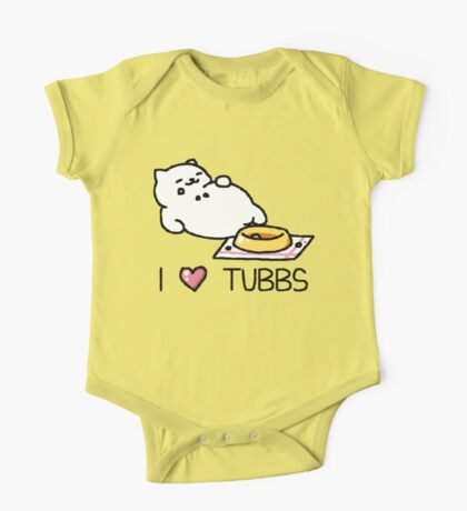 Neko Atsume - I Heart Tubbs One Piece - Short Sleeve