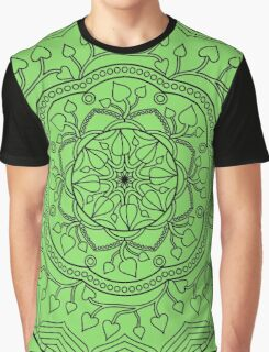 Leafy Mandala Graphic T-Shirt