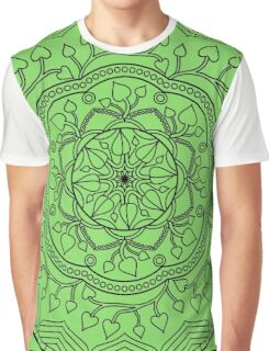 Leafy Mandala Graphic T-Shirt