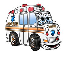 Cartoon Ambulance by Graphxpro