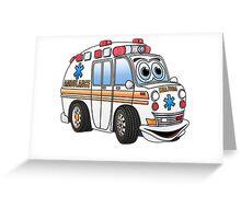 Cartoon Ambulance Greeting Card