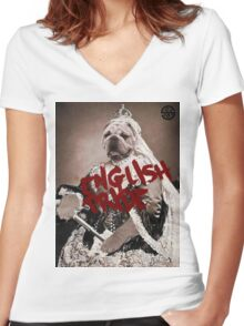 English pride Women's Fitted V-Neck T-Shirt