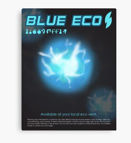 Blue Eco Canvas Print