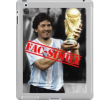 Maradona fac-simile iPad Case/Skin