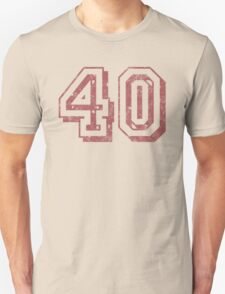 Jersey-Styled 40th Birthday T-Shirt T-Shirt