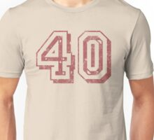 Jersey-Styled 40th Birthday T-Shirt Unisex T-Shirt