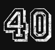 Jersey-Styled 40th Birthday T-Shirt by thepixelgarden