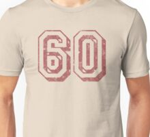 Jersey-Styled 60th Birthday T-Shirt Unisex T-Shirt