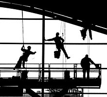 Marionette Window Washers by Andrew Wilson