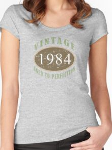 Vintage 1984, 30th Birthday T-Shirt Women's Fitted Scoop T-Shirt