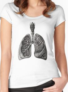 psychedelic lungs Women's Fitted Scoop T-Shirt