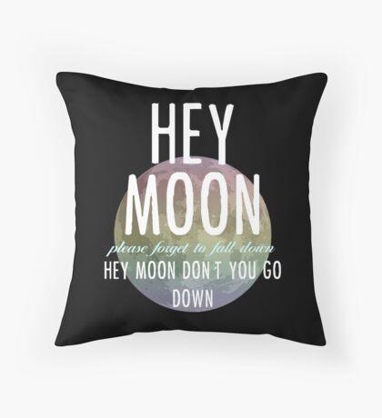 Hey Moon Throw Pillow