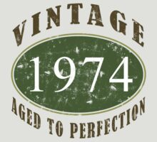 Vintage 1974, 40th Birthday T-Shirt by thepixelgarden