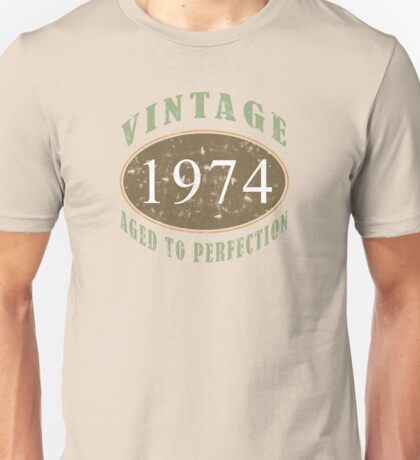 Vintage 1974, 40th Birthday T-Shirt Unisex T-Shirt