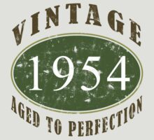 Vintage 1954, 60th Birthday T-Shirt by thepixelgarden