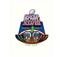 SUPER BOWL 2014 Art Print