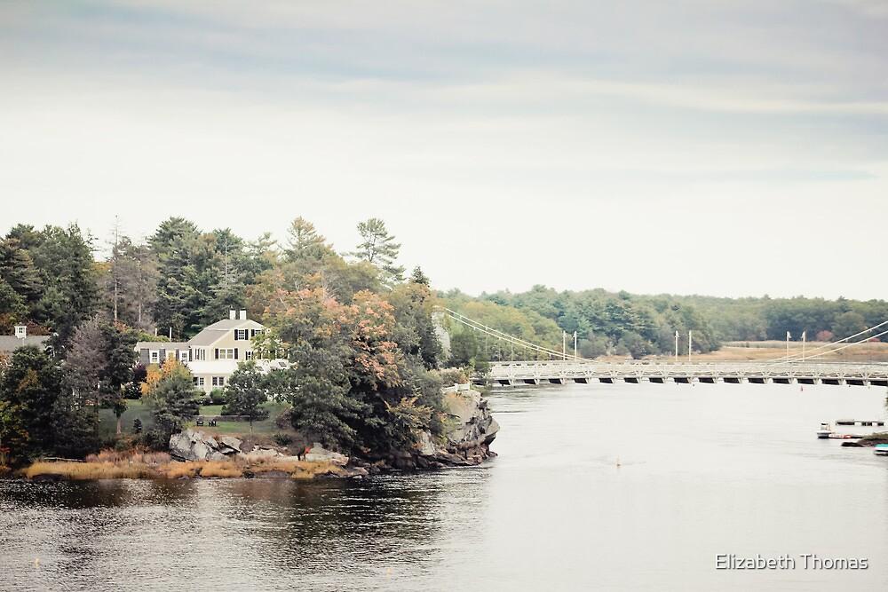 Merrimack River in New Hampshire by Elizabeth Thomas