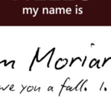 Jim Moriarty Name Tag Sticker