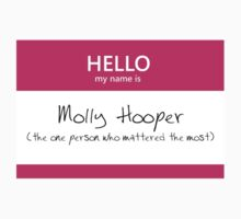 Molly Hooper Name Tag by Kristina Moy