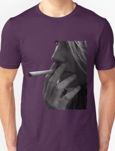 blond girl smoking weed Unisex T-Shirt
