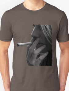 blond girl smoking weed T-Shirt