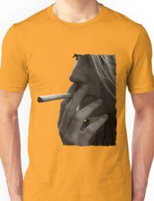 blond girl smoking weed Unisex T-Shirt