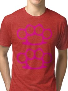 Two Pink Knuckles Tri-blend T-Shirt
