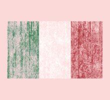 distressed italian flag Baby Tee