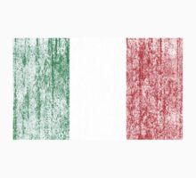 distressed italian flag One Piece - Long Sleeve