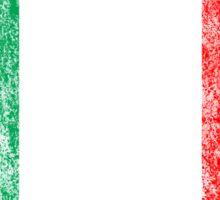 distressed italian flag Sticker