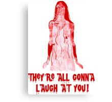 Carrie at the Prom Canvas Print