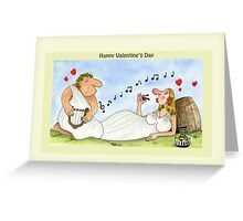 Funny Valentine's Day Cards Love Music Wine Greeting Card
