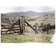 Old Wooden Gate Poster