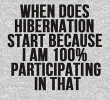 When Does Hibernation Start? by mralan