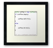 New Coffee() Framed Print